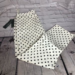 Lauren Ralph Lauren white & black polka dot pants